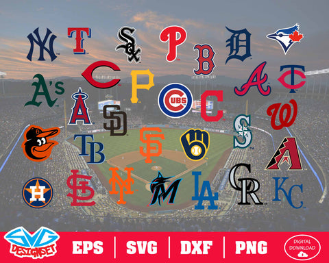 MLB Team Logo Svg, Dxf, Eps, Png, Clipart, Silhouette and Cutfiles