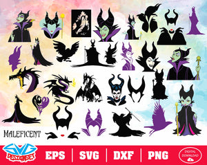 Maleficent Svg, Dxf, Eps, Png, Clipart, Silhouette and Cutfiles