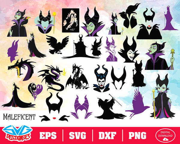 Disney Halloween Big Bundle Svg, Dxf, Eps, Png, Clipart, Silhouette and Cutfiles #1