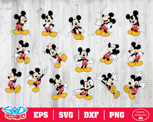 Mickey Mouse Svg, Dxf, Eps, Png, Clipart, Silhouette and Cutfiles #1