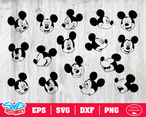 Mickey head Svg, Dxf, Eps, Png, Clipart, Silhouette and Cutfiles #2