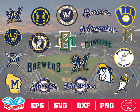 Milwaukee Brewers Team Svg, Dxf, Eps, Png, Clipart, Silhouette and Cutfiles