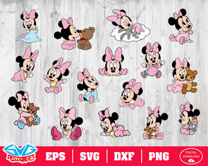 Minnie babies Svg, Dxf, Eps, Png, Clipart, Silhouette and Cutfiles #1