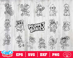 Muppeys babies Svg, Dxf, Eps, Png, Clipart, Silhouette and Cutfiles #3