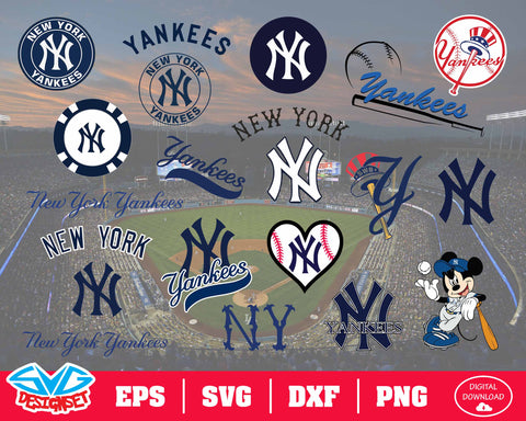 New York Yankees Team Svg, Dxf, Eps, Png, Clipart, Silhouette and Cutfiles
