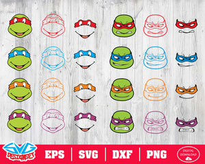 Ninja Turtles Svg, Dxf, Eps, Png, Clipart, Silhouette and Cutfiles