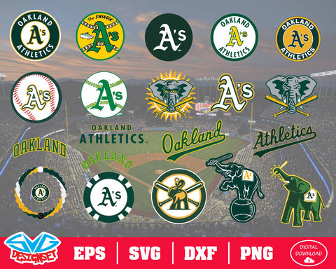 Oakland Athletics Team Svg, Dxf, Eps, Png, Clipart, Silhouette and Cutfiles