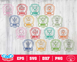 Paw patrol Svg, Dxf, Eps, Png, Clipart, Silhouette and Cutfiles #3