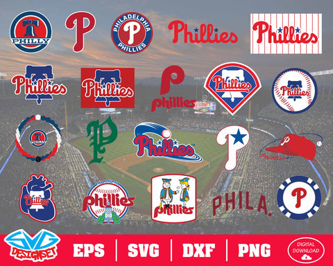 Philadelphia Phillies Team Svg, Dxf, Eps, Png, Clipart, Silhouette and Cutfiles