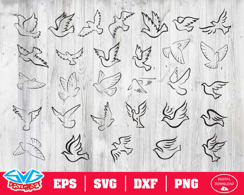 Pigeon Svg, Dxf, Eps, Png, Clipart, Silhouette and Cutfiles