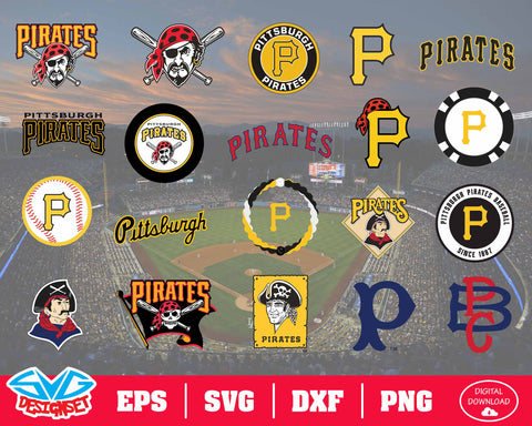 Pittsburgh Pirates Team Svg, Dxf, Eps, Png, Clipart, Silhouette and Cutfiles