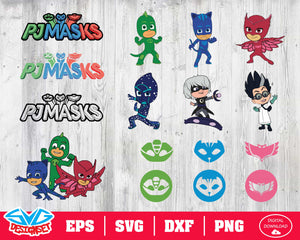 Pj masks Svg, Dxf, Eps, Png, Clipart, Silhouette and Cutfiles #1