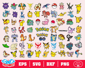 Pokemon Svg, Dxf, Eps, Png, Clipart, Silhouette and Cutfiles