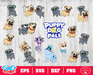 Puppy Dog Pals Svg, Dxf, Eps, Png, Clipart, Silhouette and Cutfiles #1