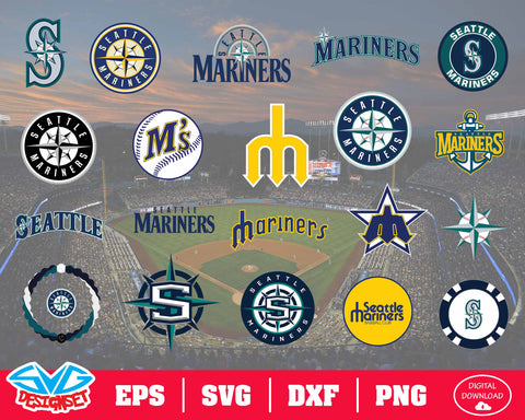 Seattle Mariners Team Svg, Dxf, Eps, Png, Clipart, Silhouette and Cutfiles