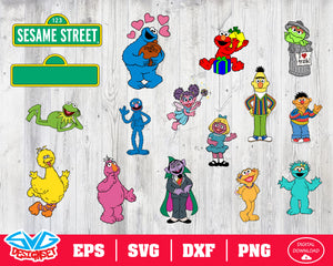 Sesame Street Svg, Dxf, Eps, Png, Clipart, Silhouette and Cutfiles #3