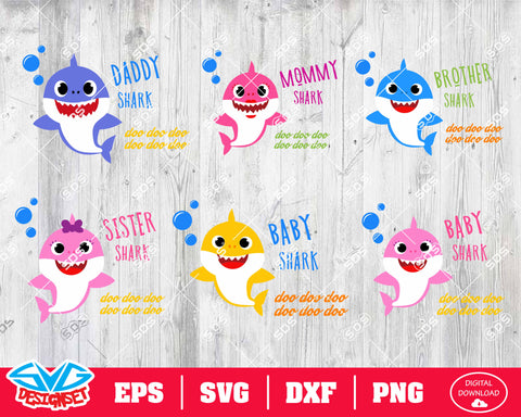Shark Bundle Svg, Dxf, Eps, Png, Clipart, Silhouette and Cutfiles #3