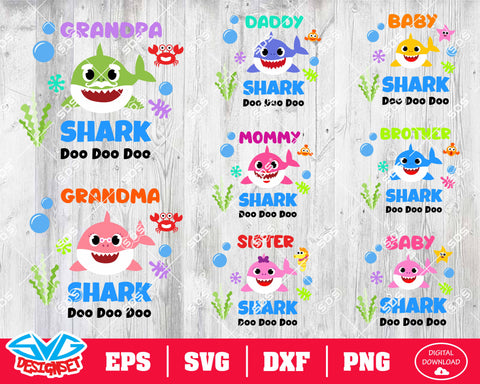 Shark Bundle Svg, Dxf, Eps, Png, Clipart, Silhouette and Cutfiles #4