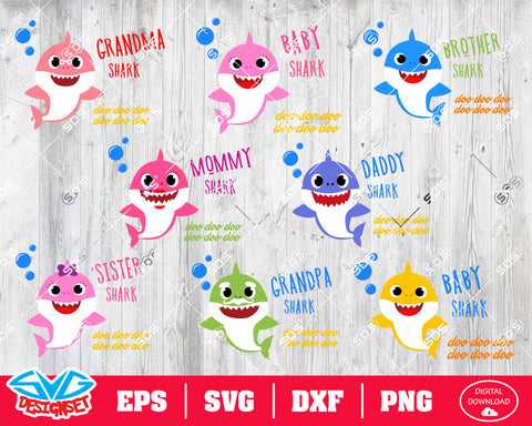 Shark Bundle Svg, Dxf, Eps, Png, Clipart, Silhouette and Cutfiles #2
