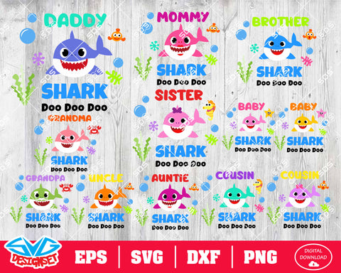 Shark Bundle Svg, Dxf, Eps, Png, Clipart, Silhouette and Cutfiles #5