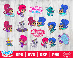 Shimmer and Shine Svg, Dxf, Eps, Png, Clipart, Silhouette and Cutfiles #1