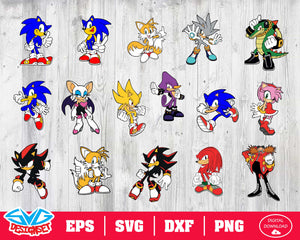 Sonic The Hedgehog Svg, Dxf, Eps, Png, Clipart, Silhouette and Cutfiles #1