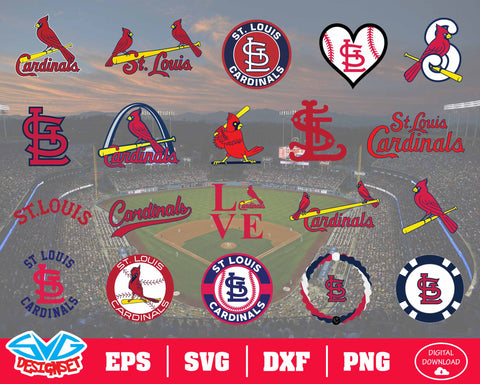St. Louis Cardinals Team Svg, Dxf, Eps, Png, Clipart, Silhouette and Cutfiles