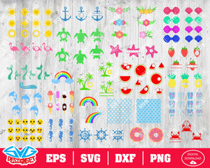 Summer Bundle Svg, Dxf, Eps, Png, Clipart, Silhouette and Cutfiles #1