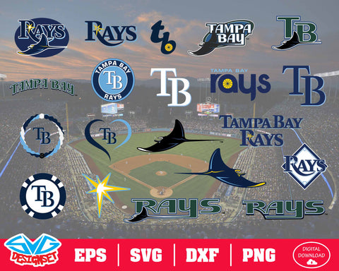Tampa Bay Rays Team Svg, Dxf, Eps, Png, Clipart, Silhouette and Cutfiles