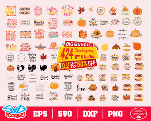 Thanksgiving Big Bundle Svg, Dxf, Eps, Png, Clipart, Silhouette and Cutfiles #1