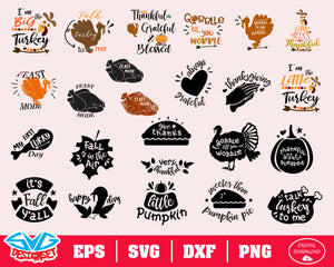 Thanksgiving Svg, Dxf, Eps, Png, Clipart, Silhouette and Cutfiles #4