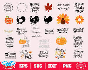Thanksgiving Svg, Dxf, Eps, Png, Clipart, Silhouette and Cutfiles #7