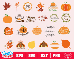 Thanksgiving Svg, Dxf, Eps, Png, Clipart, Silhouette and Cutfiles #3