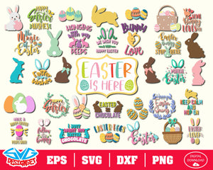 The Easter Bundle Svg, Dxf, Eps, Png, Clipart, Silhouette and Cut files for Cricut & Silhouette Cameo #2