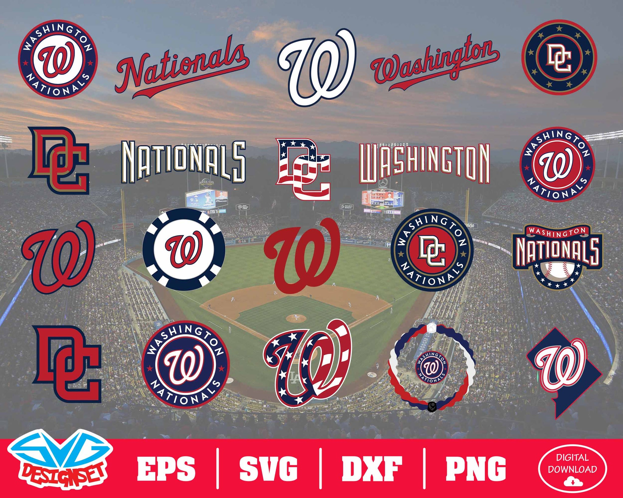 Washington Nations Team Svg, Dxf, Eps, Png, Clipart, Silhouette and Cutfiles