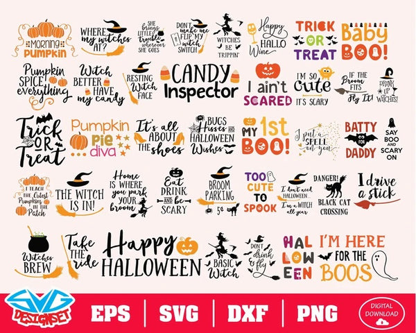 Halloween Big Bundle Svg, Dxf, Eps, Png, Clipart, Silhouette and Cutfiles