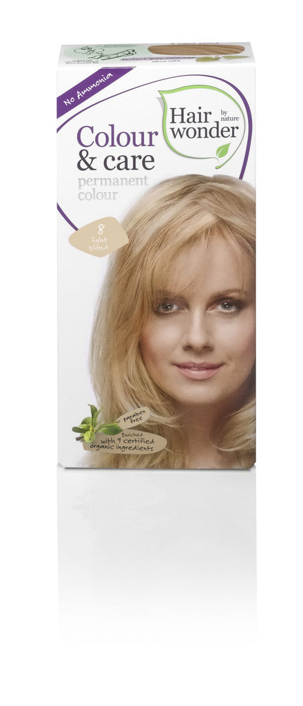 Hair Wonder Colour & Care Light Blond 8
