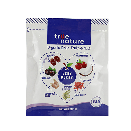 Organic Trail Mixed Very Berry 40gr - True Nature