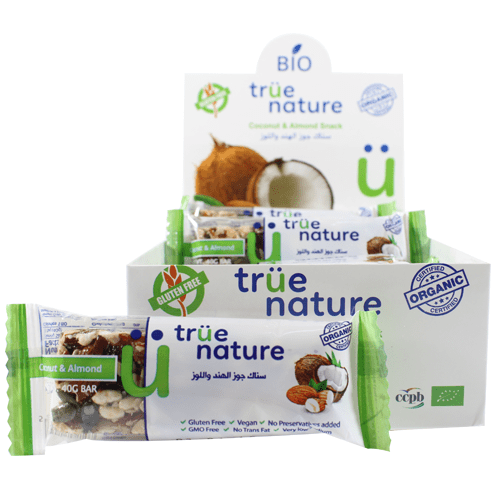 Organic Coconut & Almond bar 40gr - True Nature