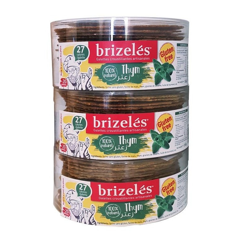 Gluten Free Thyme Crackers - Brizeles