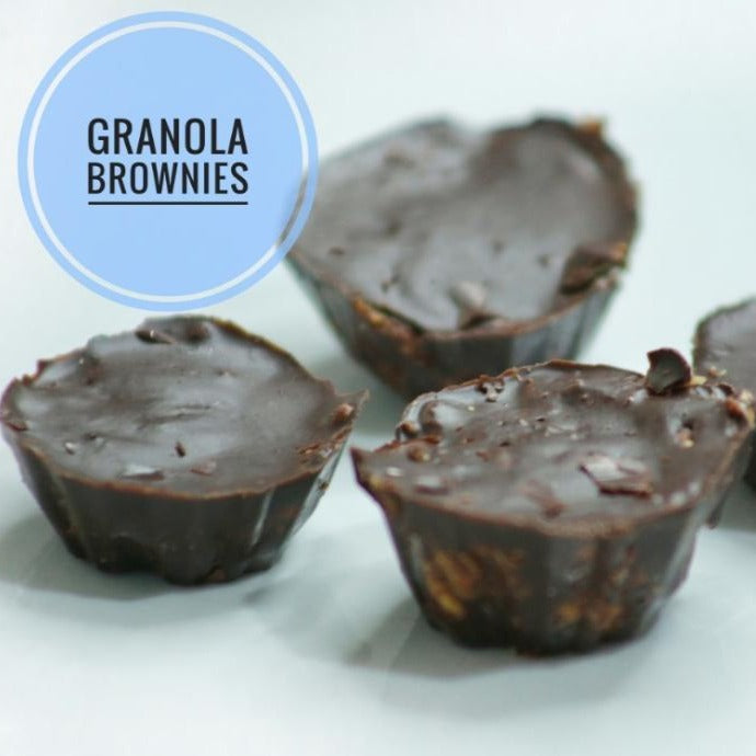 Dark Granola Brownies - Pikou Na