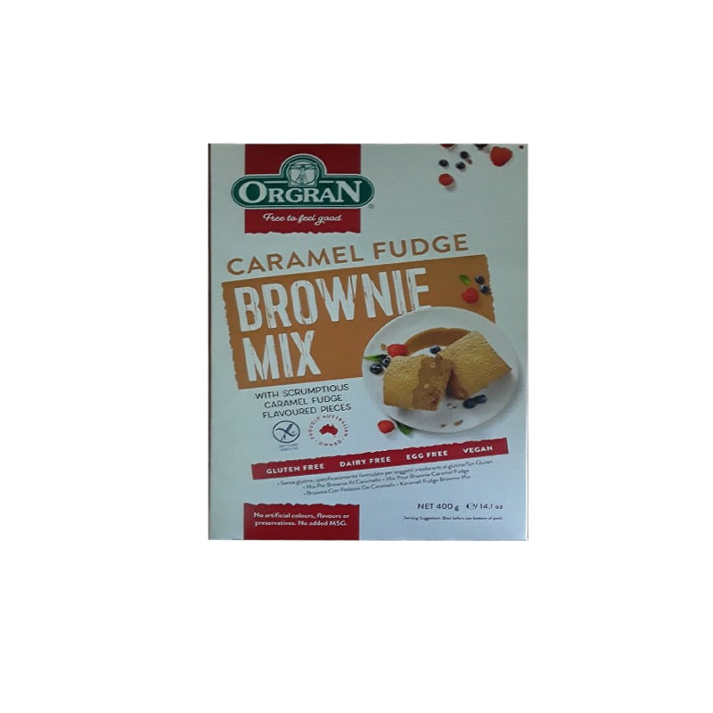 ORGRAN CARAMEL FUDGE BROWNIE MIX 400GRS