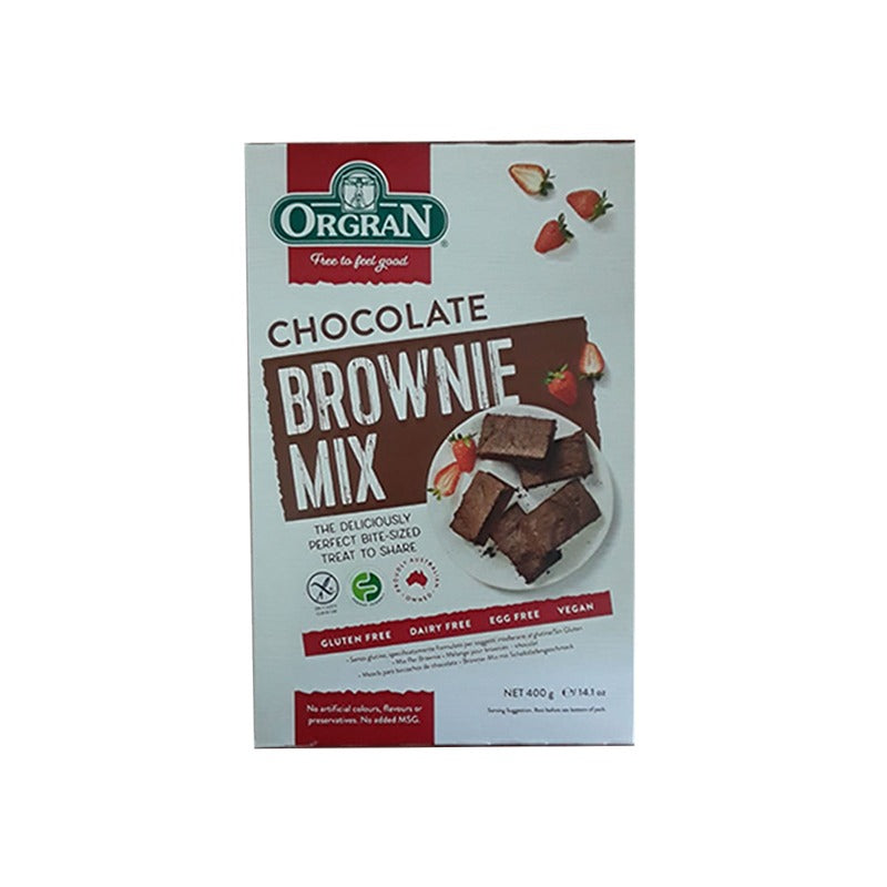 ORGRAN BROWNIE MIX 400GRS