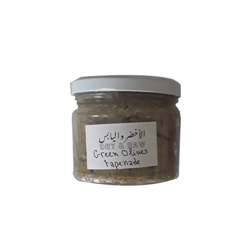 Dry and Raw Tapenade Green Olives 275gr