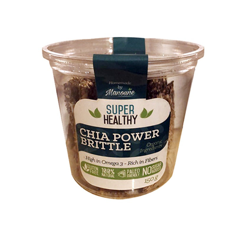 Super Healthy Homemade - Chia Power Brittle 150Gr