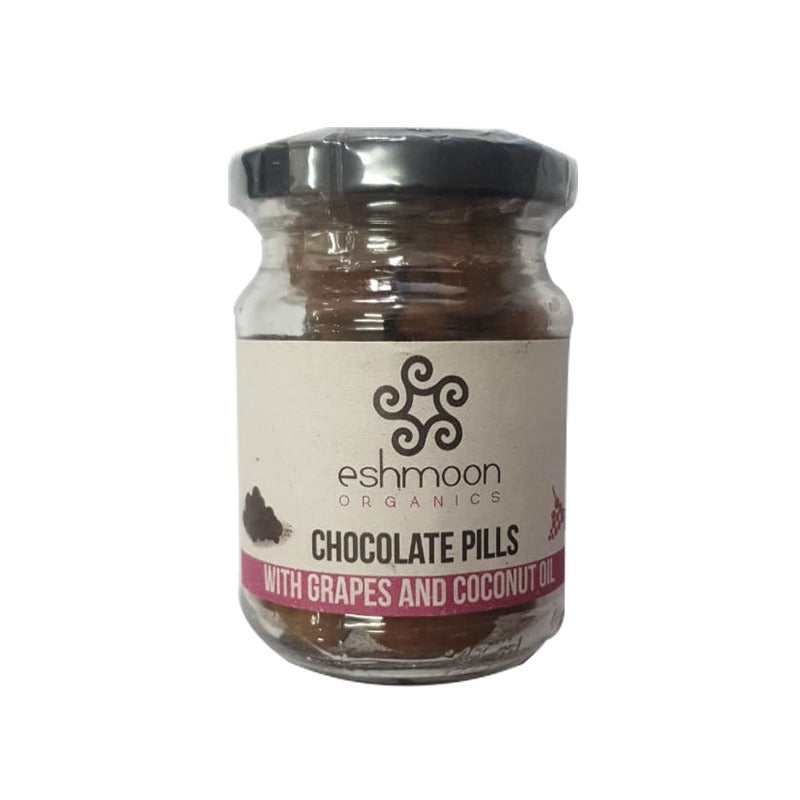 Chocolate Pills With Grapes & Coconut Oil