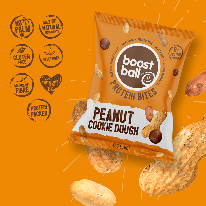 BOOST BALL 8 BITES SIZED PROTEIN PEANUT COOKIE DOUGH