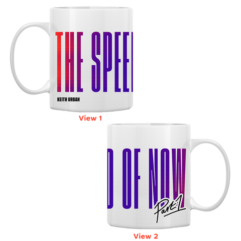 THE SPEED OF NOW PART 1 Logo Coffee Mug (White)