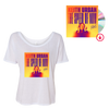 THE SPEED OF NOW Women's Slouchy White T-Shirt + THE SPEED OF NOW PART 1 CD