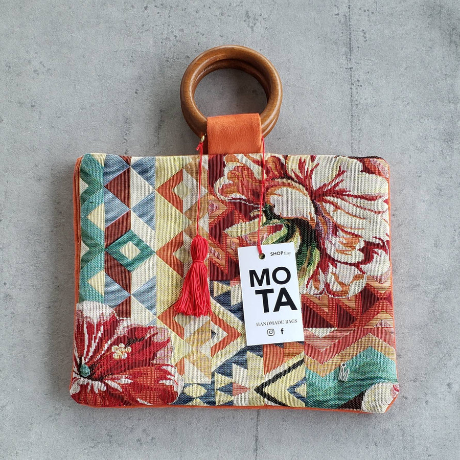Handmade bag, Tropical Flower.